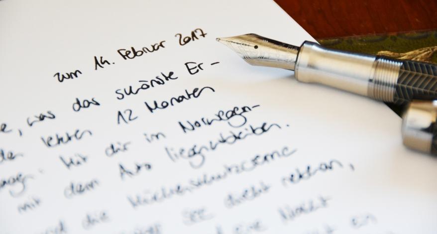 Liebesbrief schreiben für sie