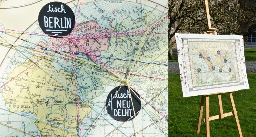 Hochzeit Sitzplan für Weltenbummler Werner in Daun